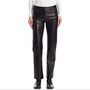 Pelle Studio High Rise Straight Leg Leather Pants